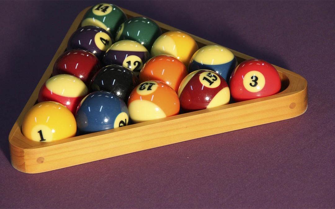 Composición y tipos de bolas de billar